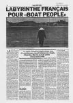 « Labyrinthe français pour Boat People » (1) - Le Matin - 7/8 juillet 1979