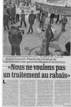 « Nous ne voulons pas un traitement au rabais» - La Dépêche du Midi - 21 novembre 2004