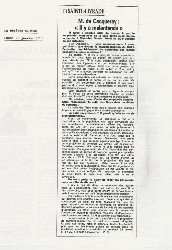 « On tord le cou du coq » (2) - La Dépêche du Midi - 23 janvier 1993