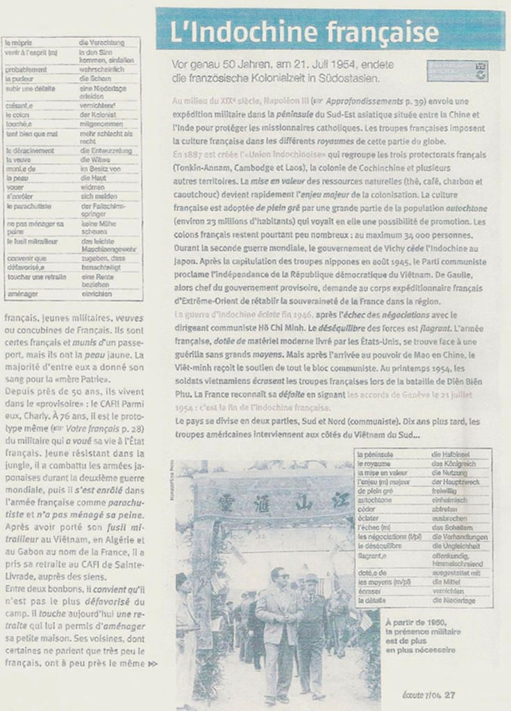 Reportage au CAFI par Arnaud GALY (2) - Juillet 2004
