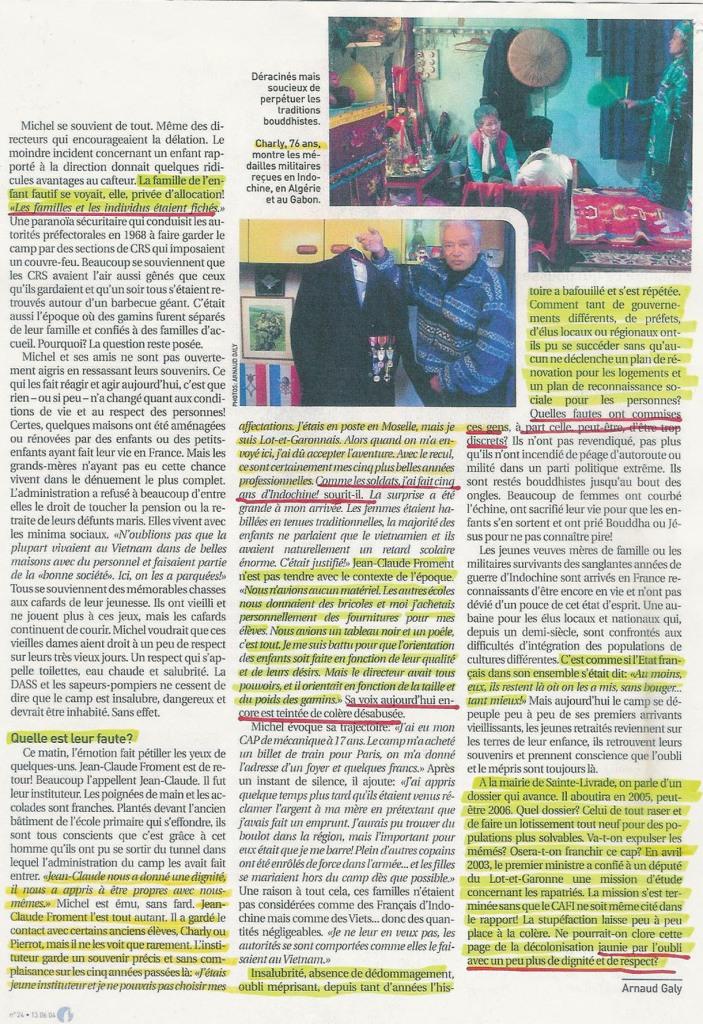 Reportage au CAFI par Arnaud GALY (7) - Juillet 2004