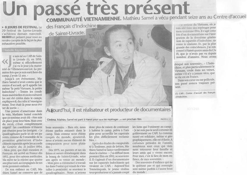 « Un passé très récent » - Sud-Ouest - 2004