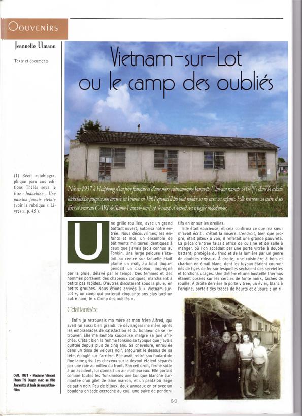 Cahiers du Viêtnam - Viêtnam-sur-Lot (1)