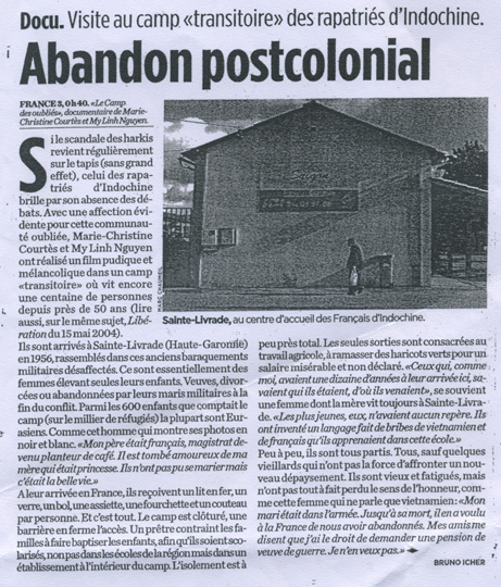Abandon postcolonial - Libération