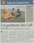 Les parfums du CAFI - Sud-Ouest du 16 août 2008