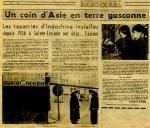 Un coin d'Asie en terre gasconne - Sud-Ouest 1964