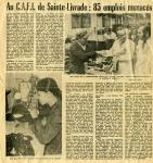 Au CAFI : 85 emplois menacés - 1973