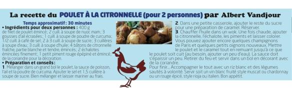 Poulet citronnelle