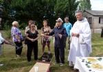 Un petit speech pour le départ du prêtre