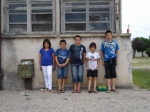 Jeune équipe de boulistes
