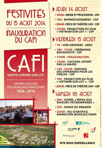 Programme festivités du 15 août au CAFI